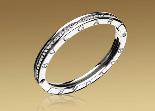 bulgari bzero1 bracelet in 18kt white gold with pav diamonds