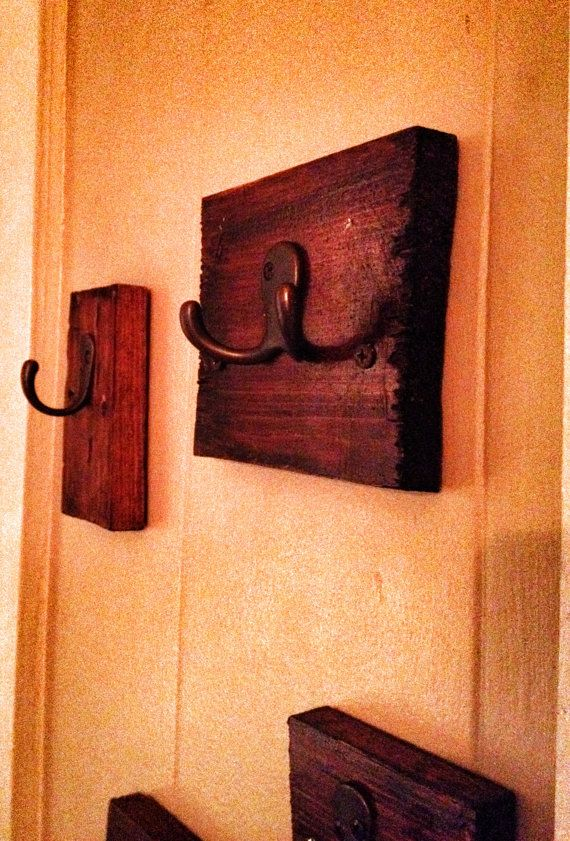 Rustic Distressed Wood Hooks  by BeckoSassy on Etsy, $11.00