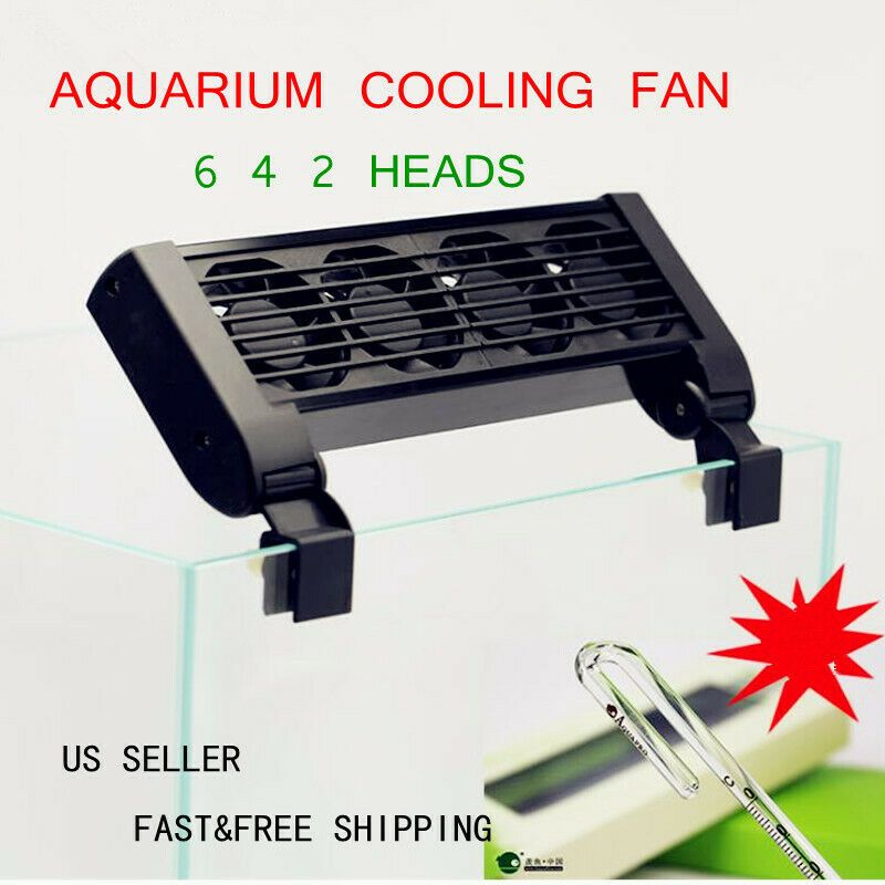 Aquarium Fish Tank Chillers Cooling Fan 6 4 2 Fans Summer