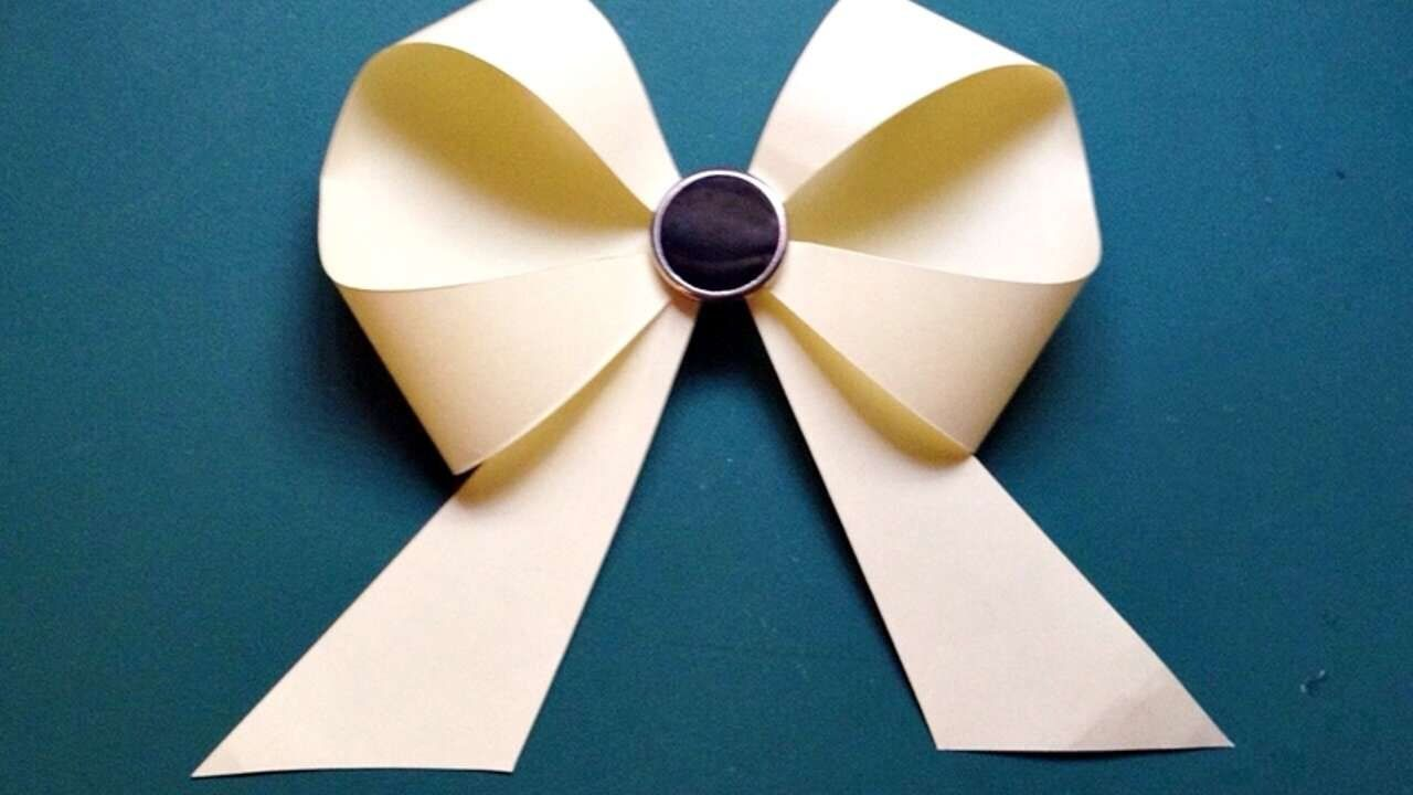 Paper Bow - How To Make Paper Bow Easy - YouTube   720x1280