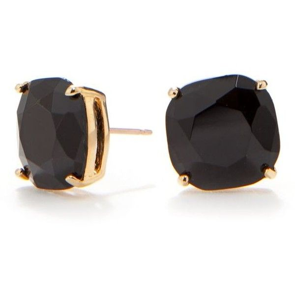 Black Jewelry Kate Spade New York Jet Small Square Stud Earrings