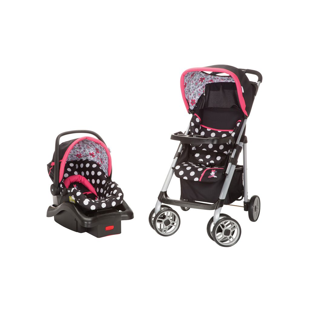Keep Fashion Strollin Along This Black And Pink Minnie Mouse