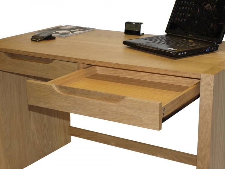 Home Office Desk Solid Oak With Veneers 2 Drawers Sofa And Home
