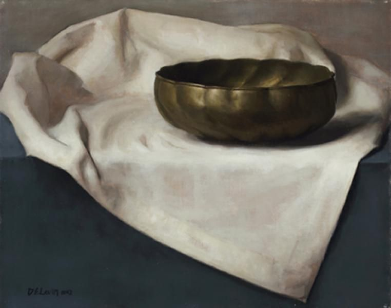 Humble Bowl, oil on linen, 16 x 20 inches - Dana Levin
