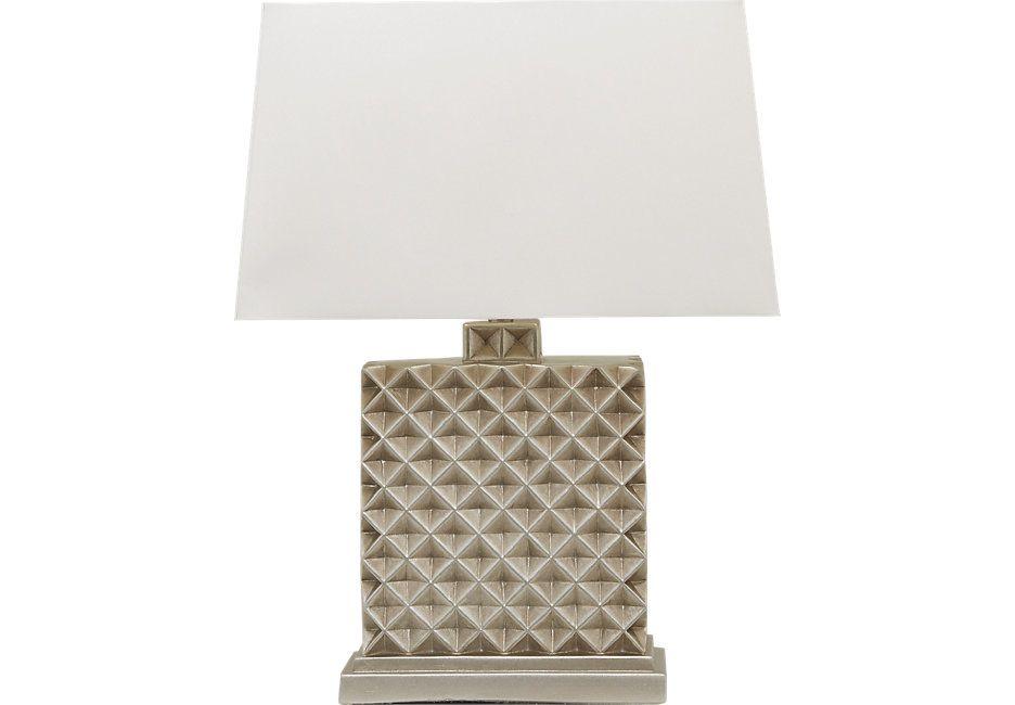 Kanita Pewter Lamp Cindy Crawford Home Lamp Living Room Sets