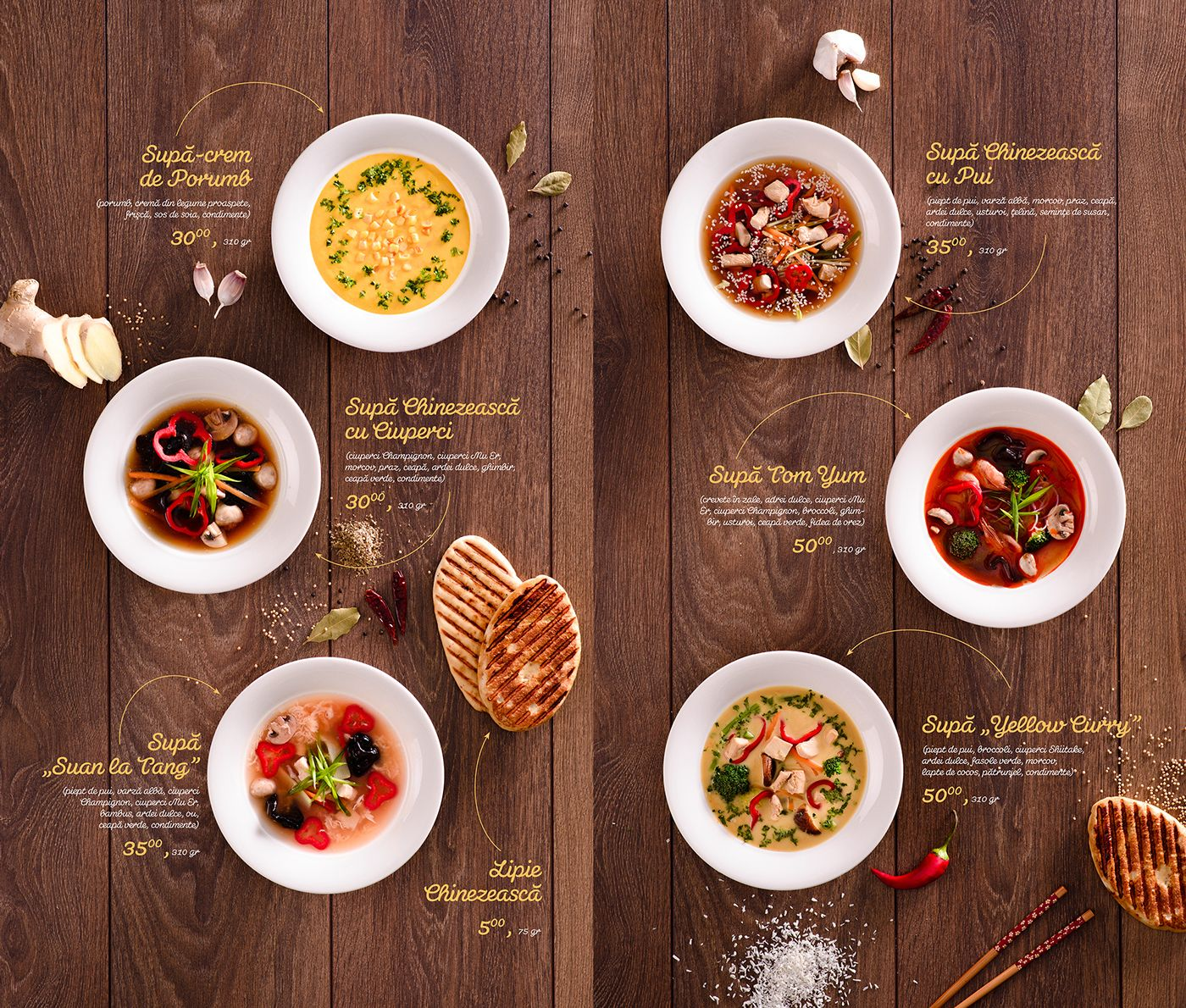 Food Menu Layout Ideas