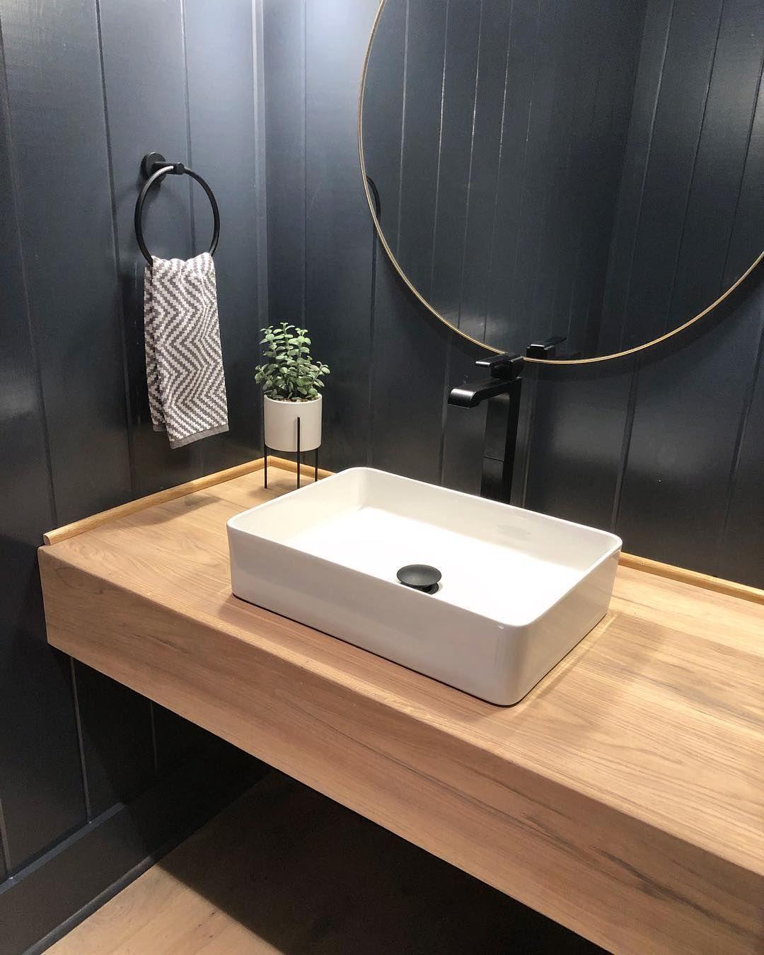 Clay Tate Nashville On Instagram Powder Bath Who Wouldn T Love A Powder Bath Like T Bathroom Sink Design Small Bathroom Sinks Vessel Sink Bathroom Vanity