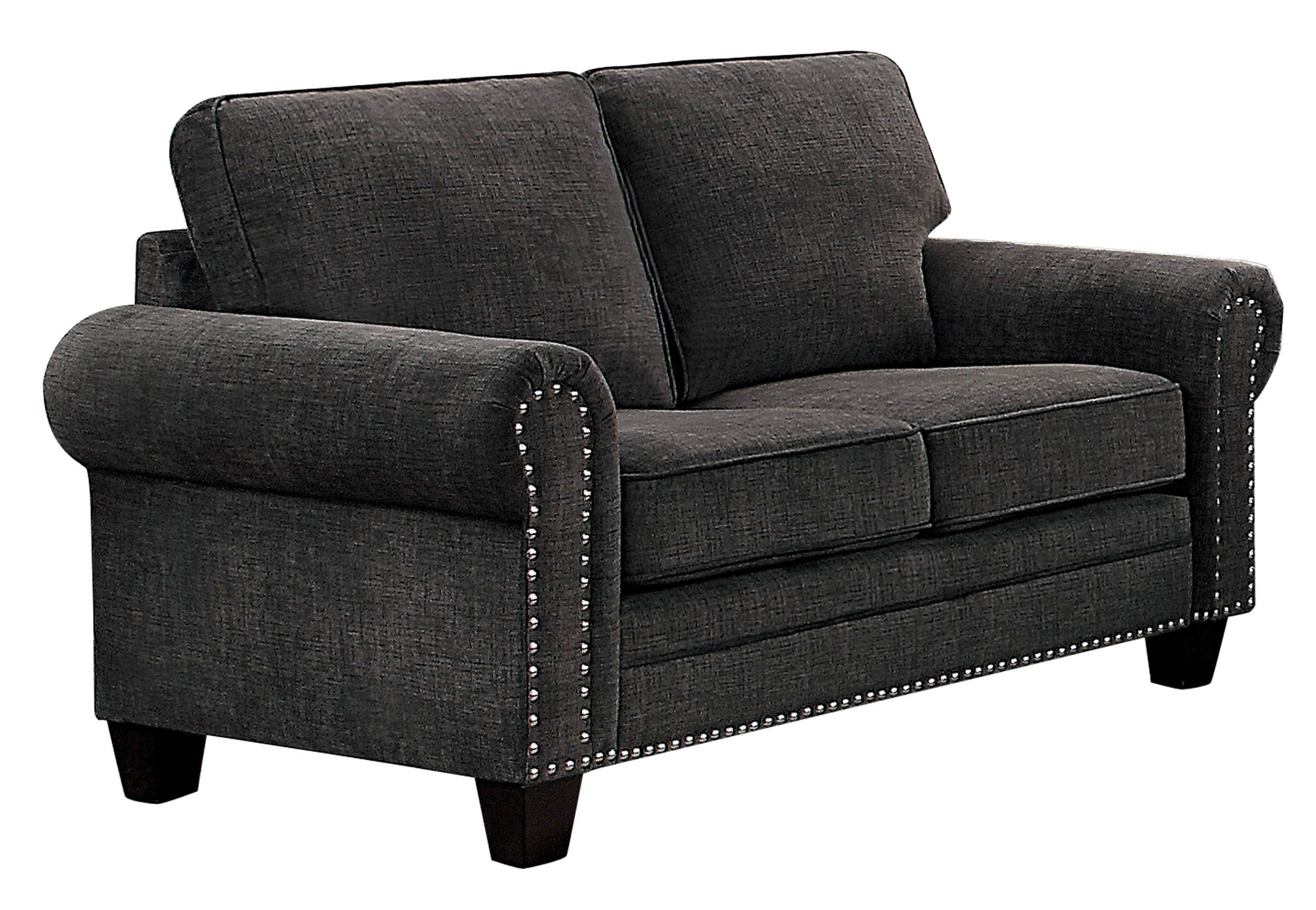 Best Homelegance Cornelia Rolled Arm Loveseat With Nail Head 400 x 300