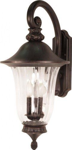 Nuvo 60/979 Arm Down Wall Lantern with Fluted Seed Glass, Old Penny Bronze, Large by Nuvo. $123.22. Old penny bronze large, arm down, wall lantern with fluted seed glass. (3) 40-Watt type B candelabra base bulbs not included.. Save 16%!