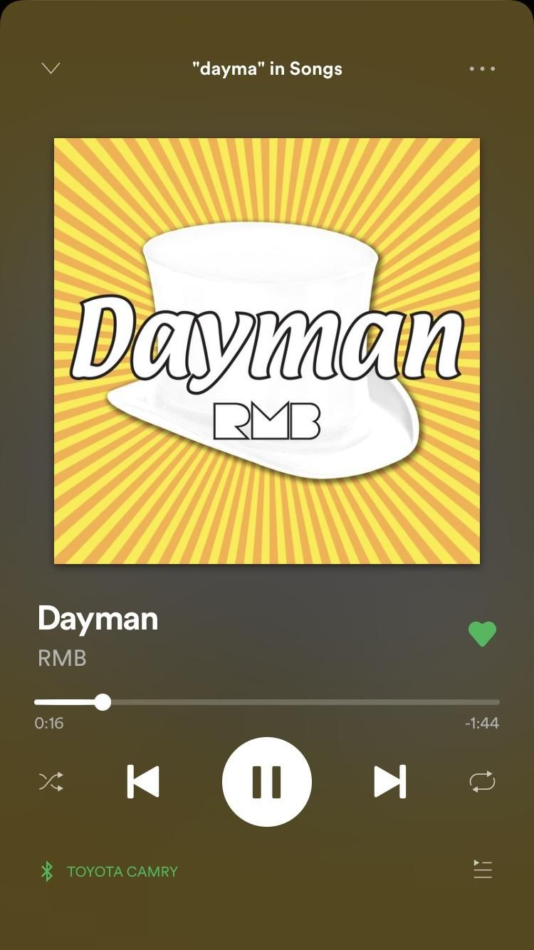 Til Dayman Is On Spotify Toyota Camry Toyota Songs