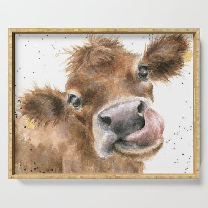 Face Baby Cattle Serving Tray by Dod_mun - 18