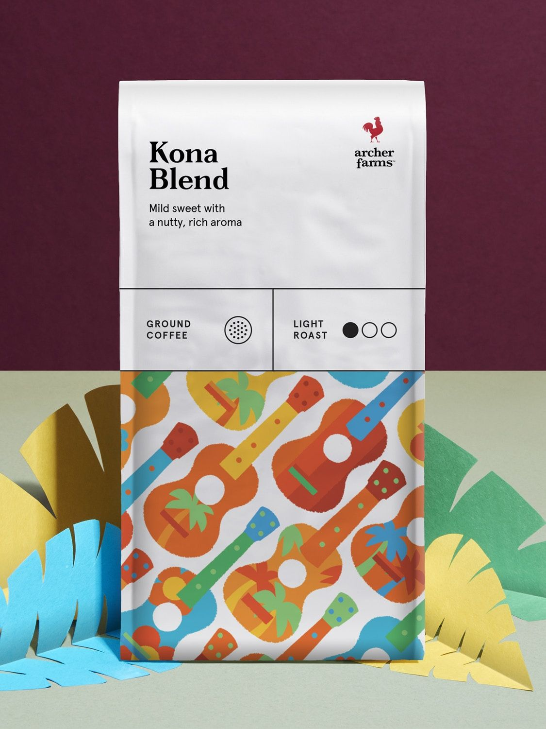 Archer Farms Coffee label, Beautiful packaging design