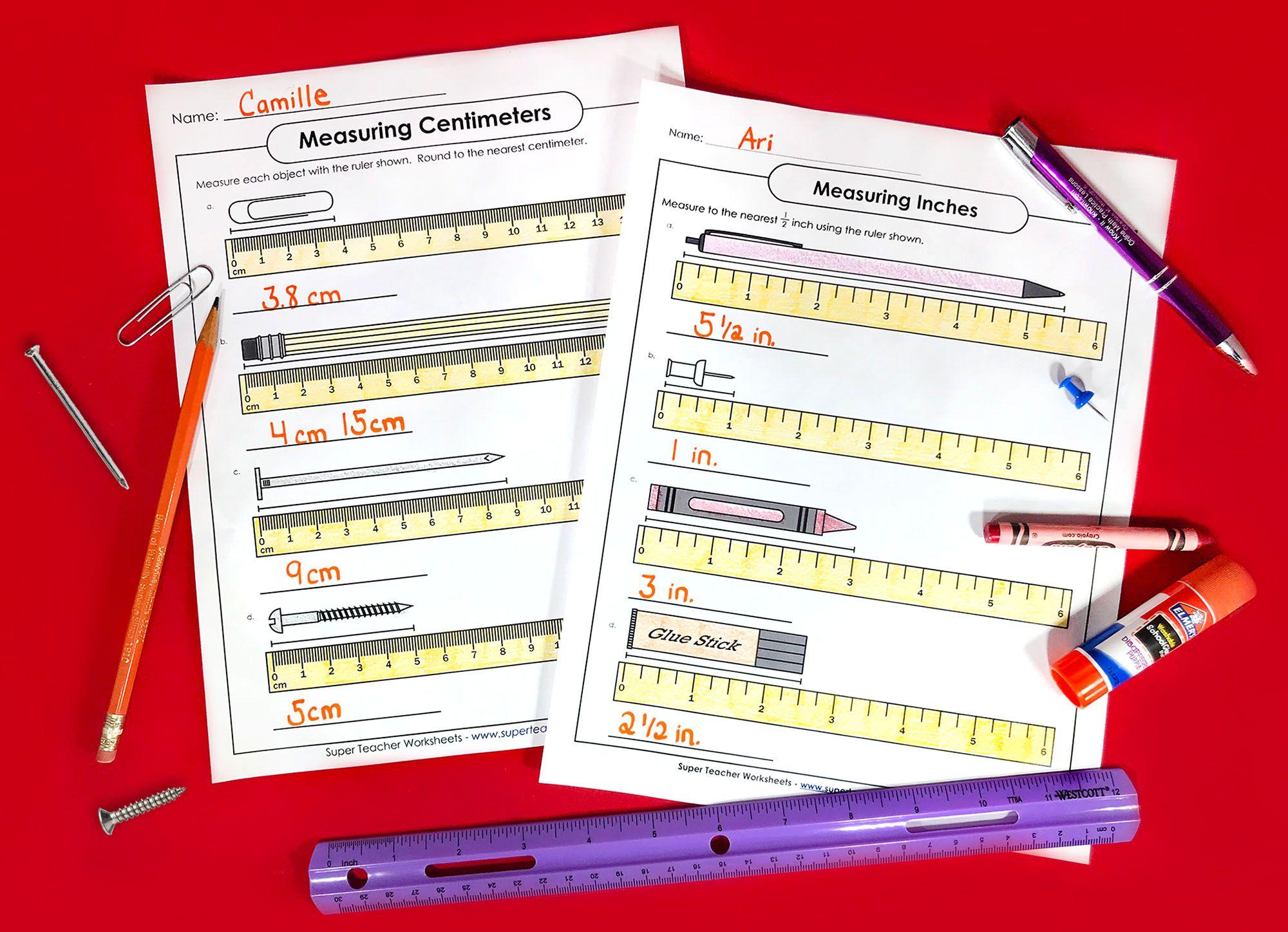 Measurement Activities Measurement Worksheets Measurement Activities Super Teacher Worksheets [ 1448 x 2000 Pixel ]