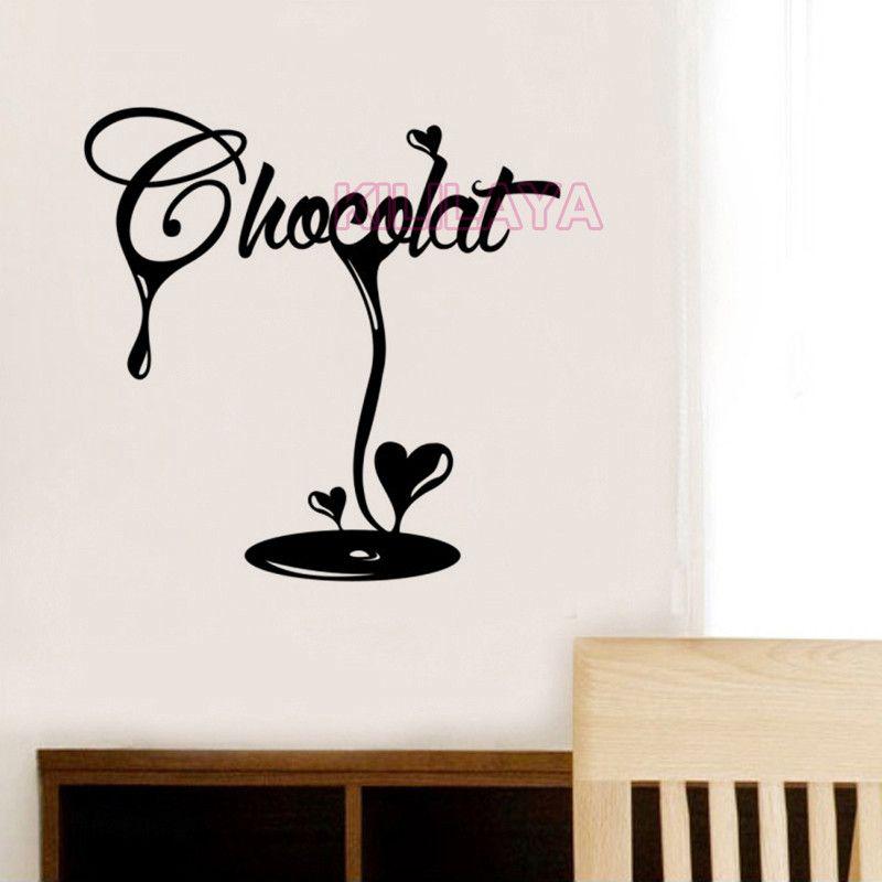 Aliexpress Com Buy Stickers French La Cuisine Chocolat Fondant