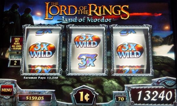 The lord of the rings - land of mordor slot (WMS)