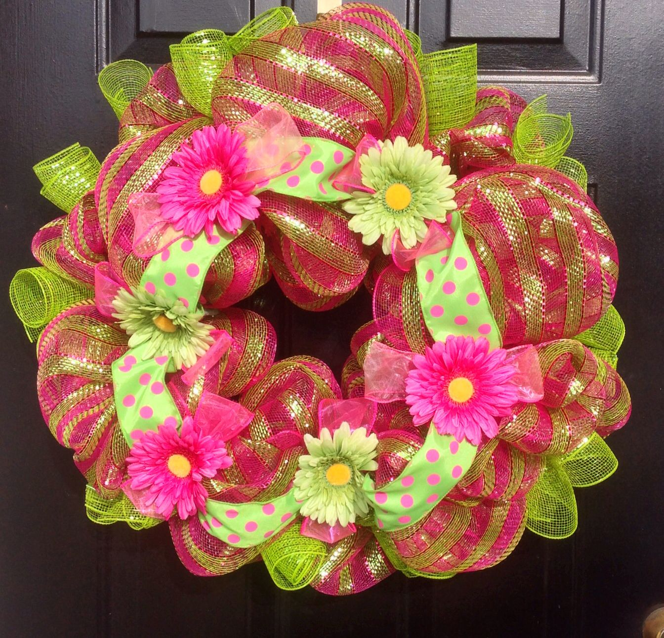 Summer Deco Mesh Wreath