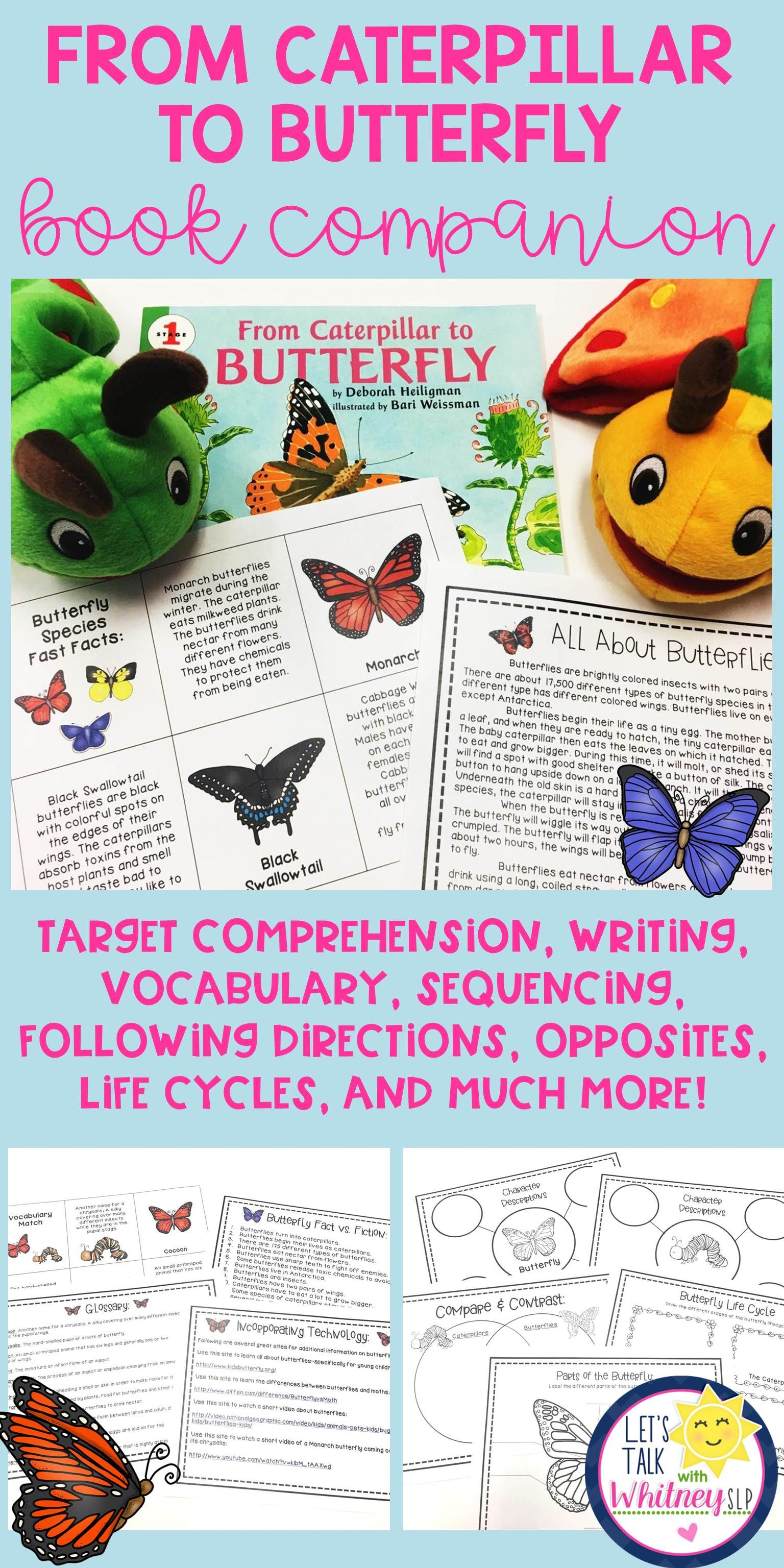 From Caterpillar To Butterfly Book Companion Pack Amp Facts About Butterflies