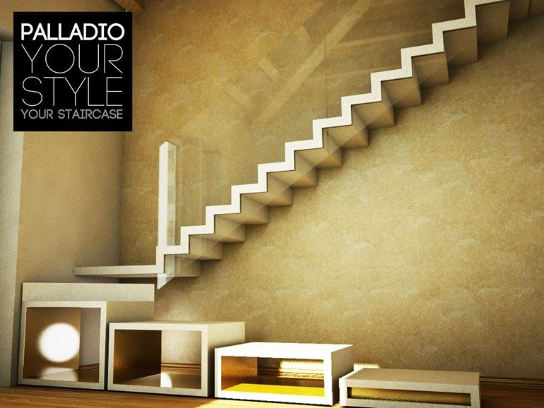 Cantilevered staircase PALLADIO FLOATING ART SURFACE by Palladio ...