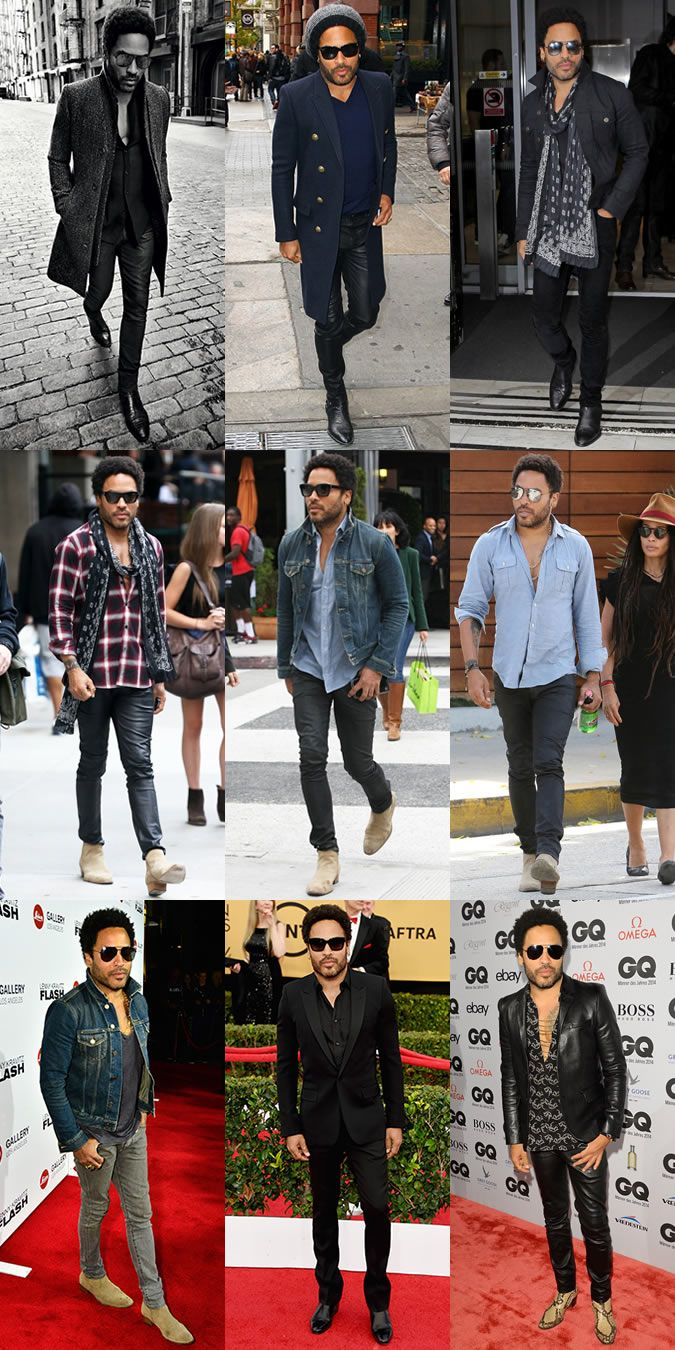 Lenny Kravitz Personal Style Lookbook 2015   Stylish men