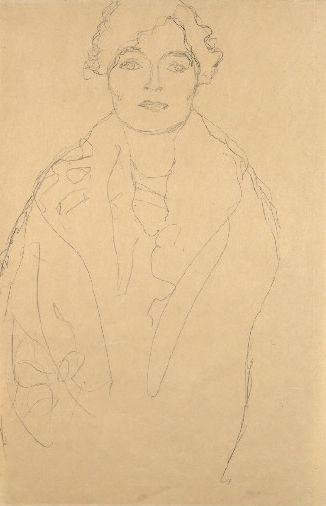 Drawings 2 / Halbbildnis einer Dame von vorne (Studie zum Bildnis Johanna…