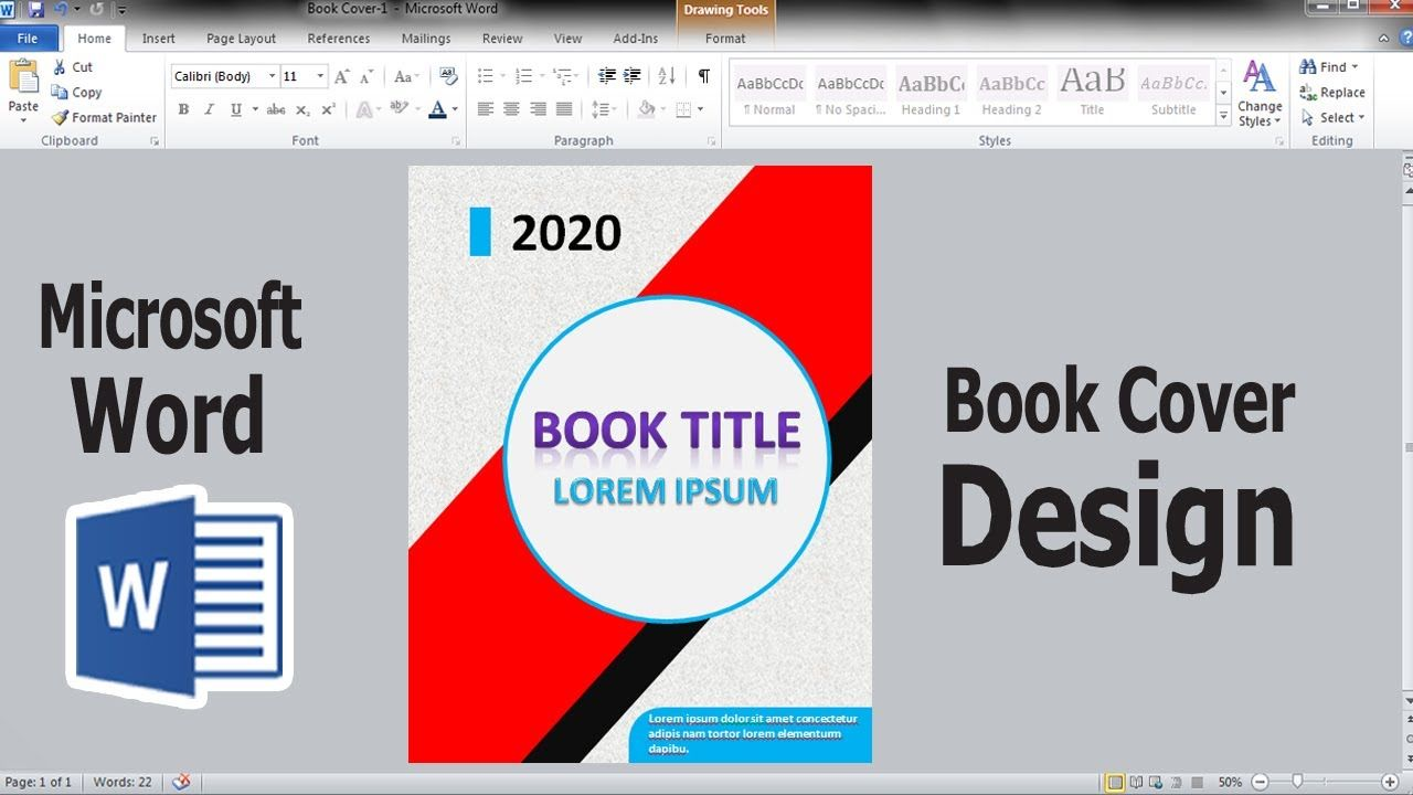 How To Make Professional Book Cover Design In Microsoft Word 2010 Ms Wo Book Cover Design Microsoft Word 2010 Professional Books
