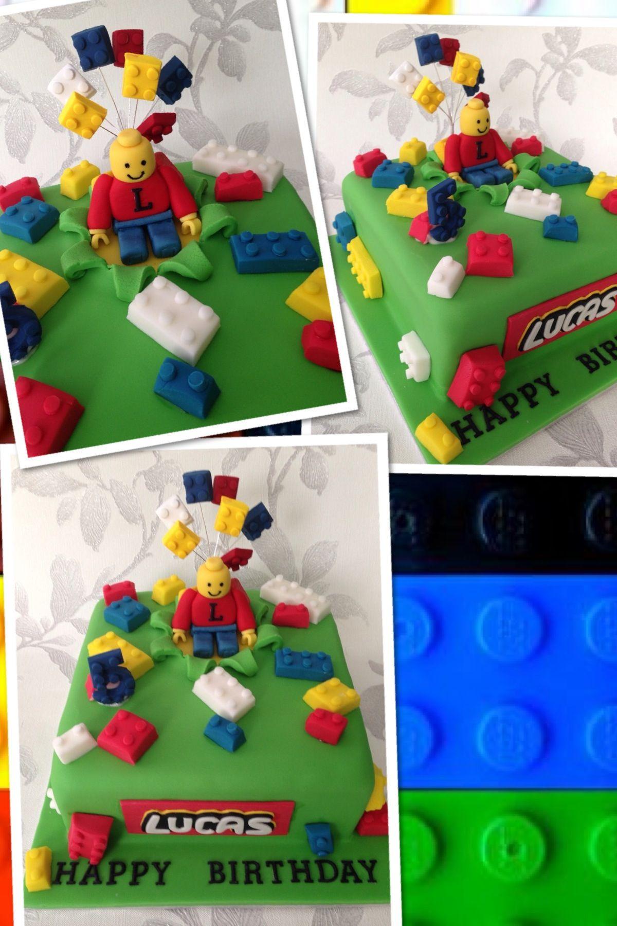 Lego Themed Birthday Cake Lego Man Lego Pinterest Lego Men