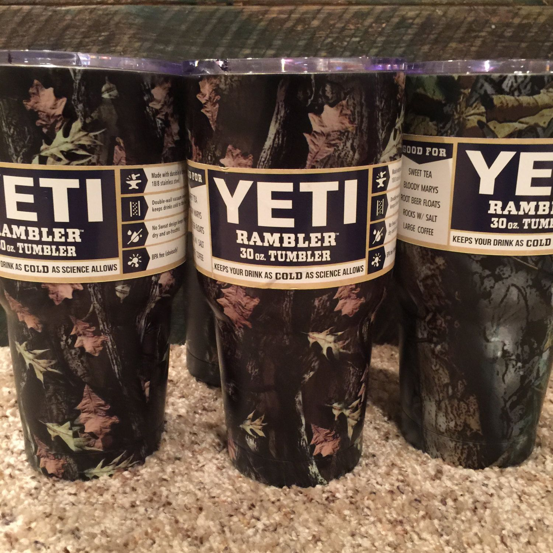 "yeti ""CAMO"" 30 oz mug PERSONALIZED customized coffee and"