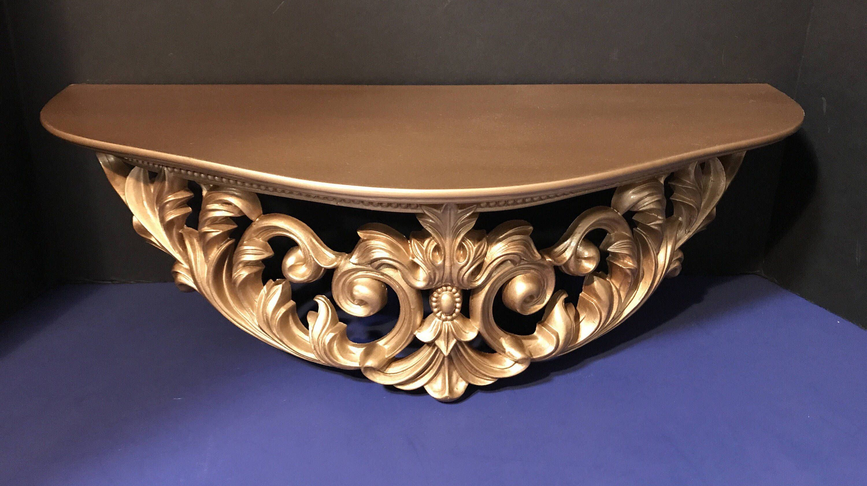 com bracket home improvement dp amazon cast shelf wall long ornate pattern iron