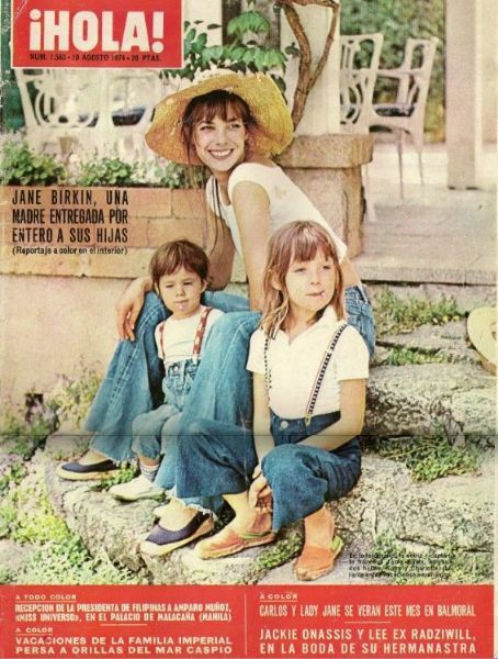 Charlotte Gainsbourg, Jane Birkin - Hola! Magazine Cover [Spain] (10 August 1974)