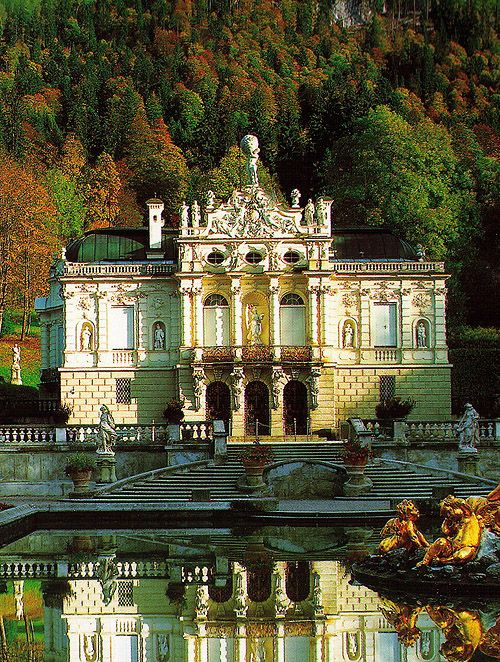 Schloss Linderhof Linderhof Palace Bavaria Germany Http Www Castlesandmanorhouses Com Photos Htm Lind Linderhof Palace Castle Pictures Prettiest Castles