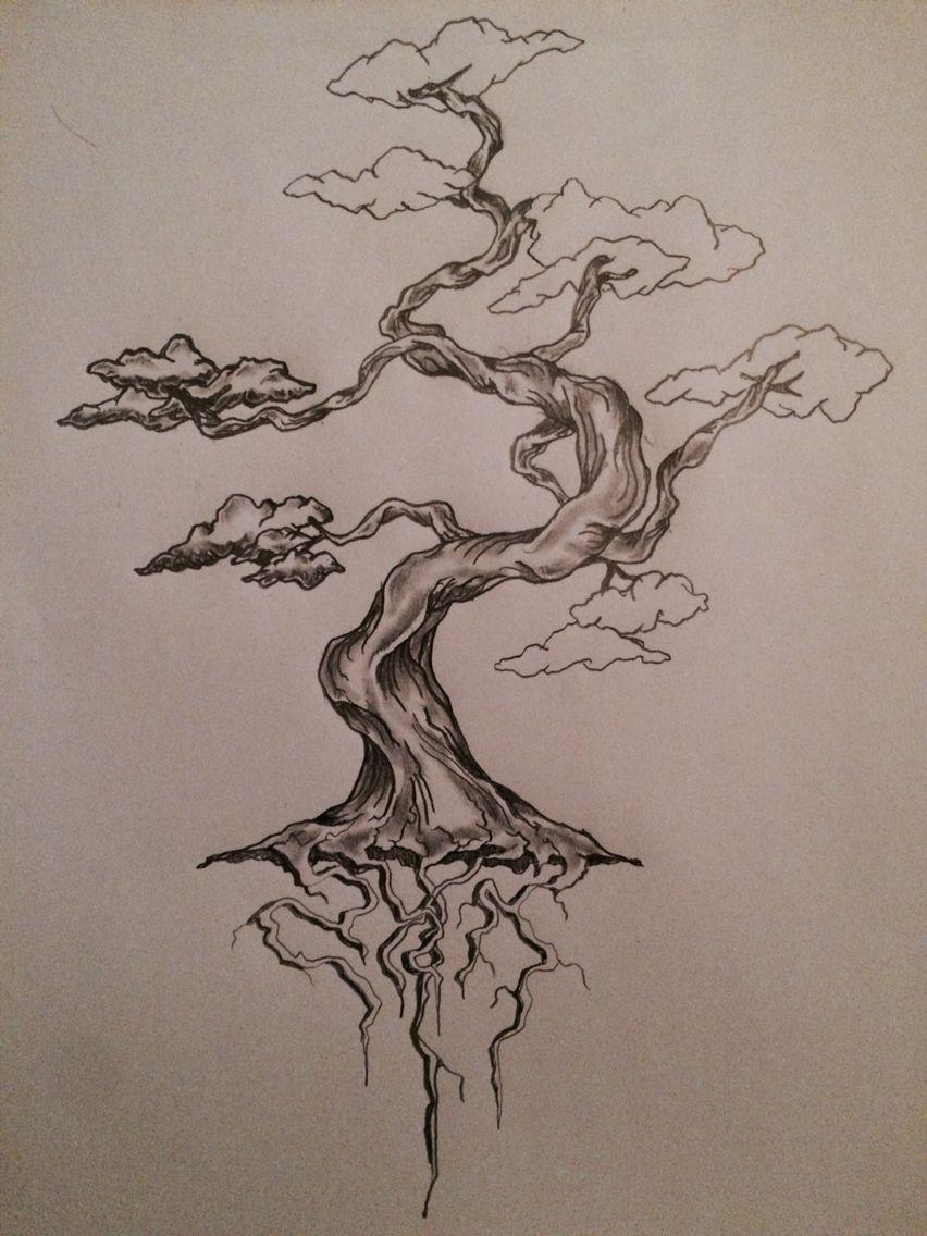 Bonsai Tattoo Meaning: W.I.P (work In Progress) Bonsai Tree Tattoo Sketch / Art