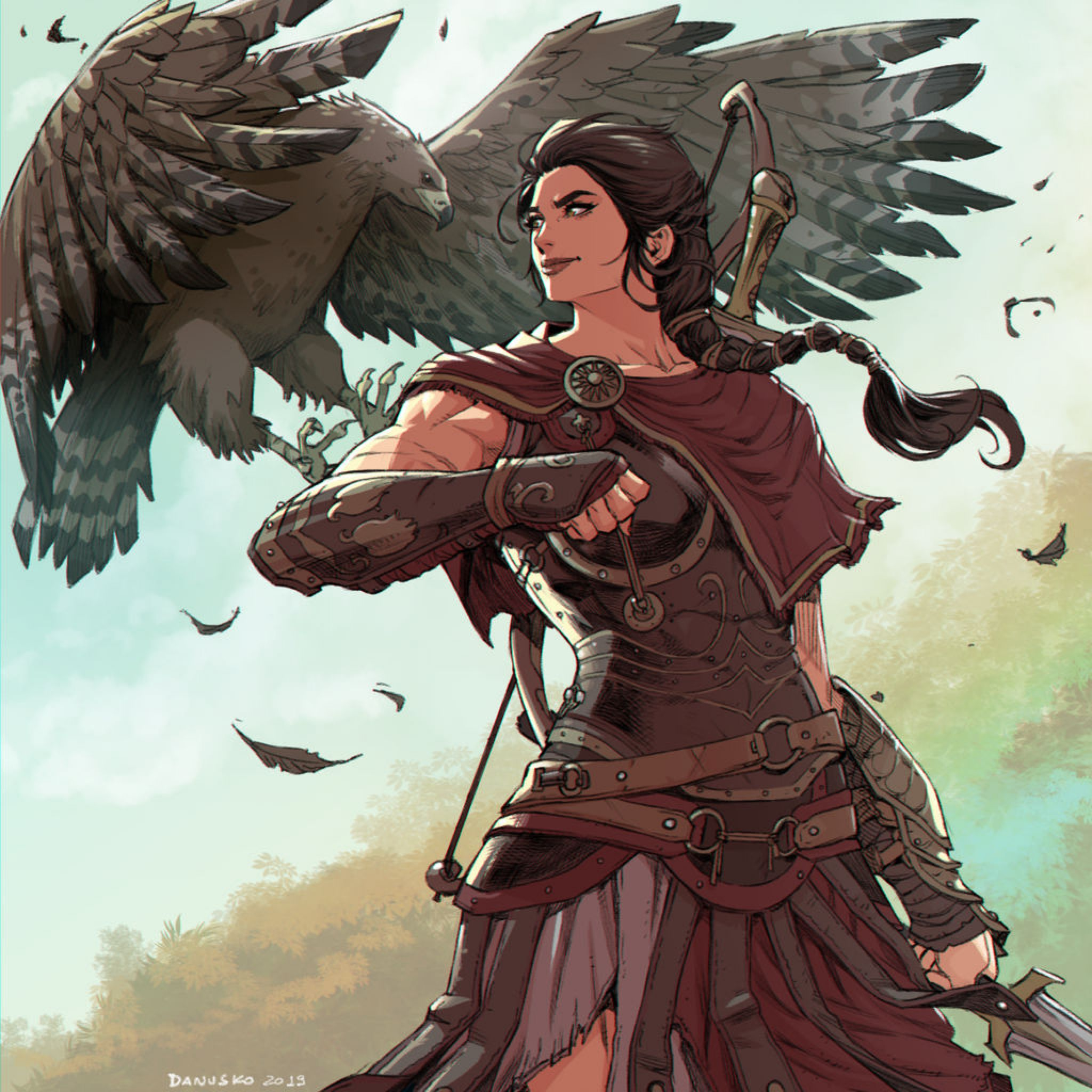 Kassandra Fanart By Danuskoc On Deviantart Assassins Creed Art Character Art Assassins Creed