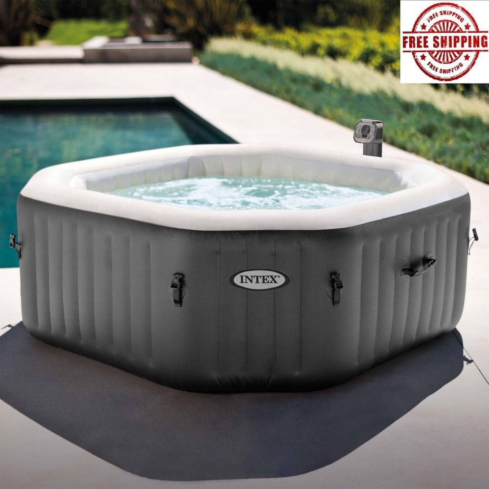 Inflatable Hot Tub Spa Intex Portable Jacuzzi Heated Bubble Massage 4  Person 1d