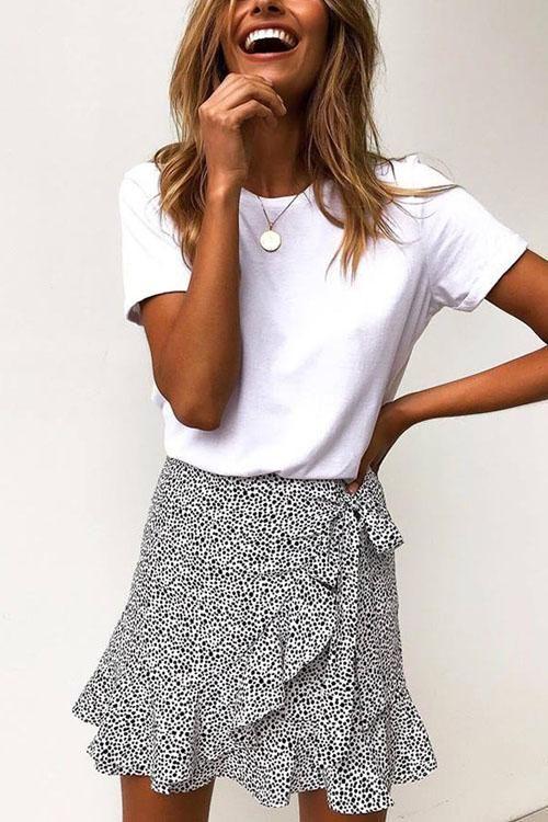 Photo of Mollystylish Falbala Cute Print Skirt – MollyStylish