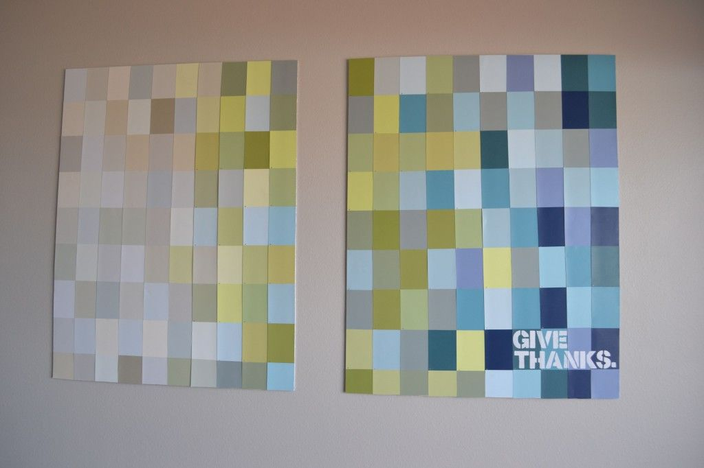 Paint Swatch Wall Art #TutorialTuesday | Tutorial Tuesday ...