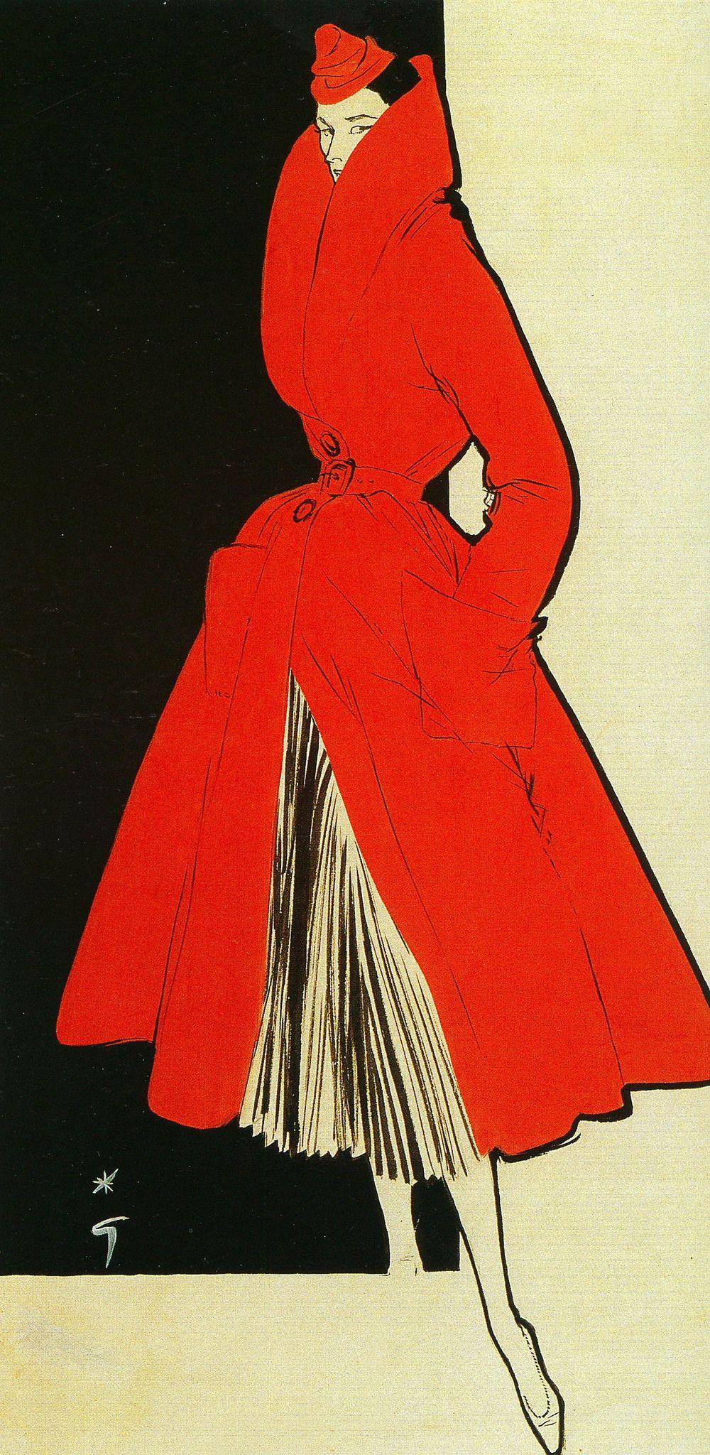 Illustrated by Rene Gruau, 1956