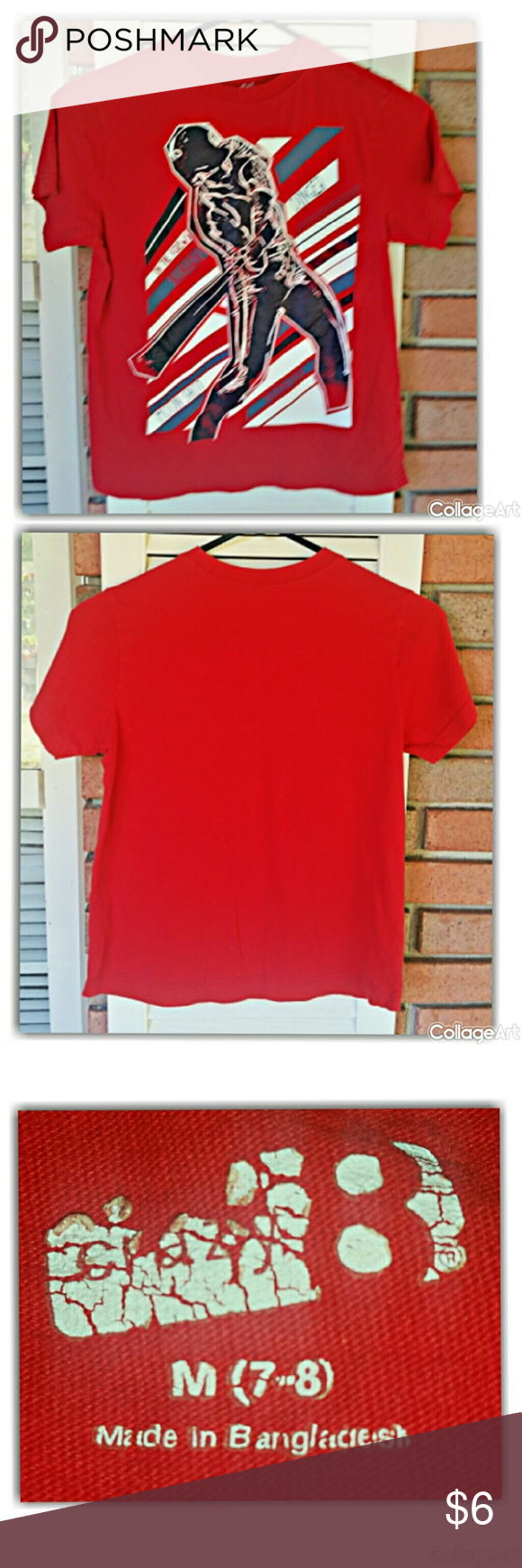 Red baseball t shirt by Crazy 8 100% cotton. Turn inside out, machine wash cold, tumble dry low.#crazy8boys#sizem7-8 Crazy 8 Shirts & Tops Tees - Short Sleeve