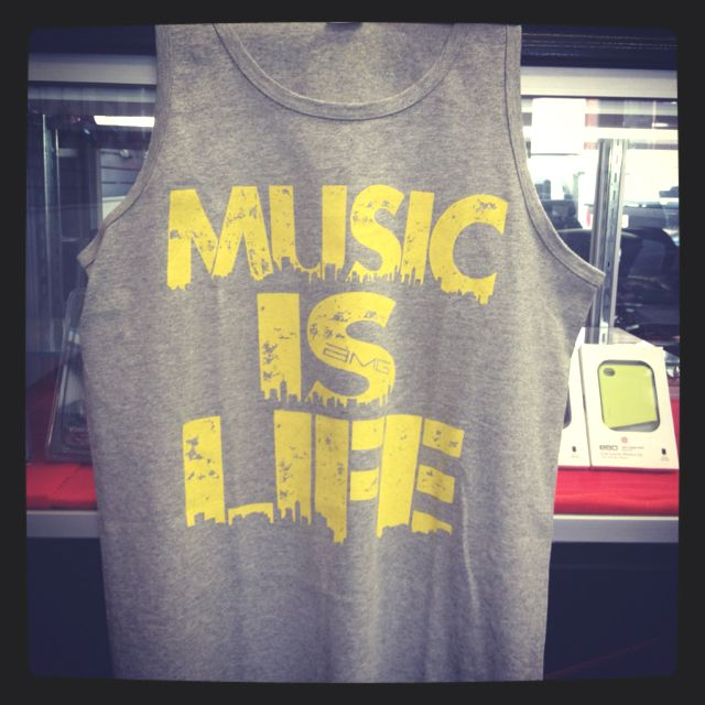 """Music is Life"" tank top by Mynt Clothing (www.myntclothing.com) To order contact myntclothing@gmail.com"