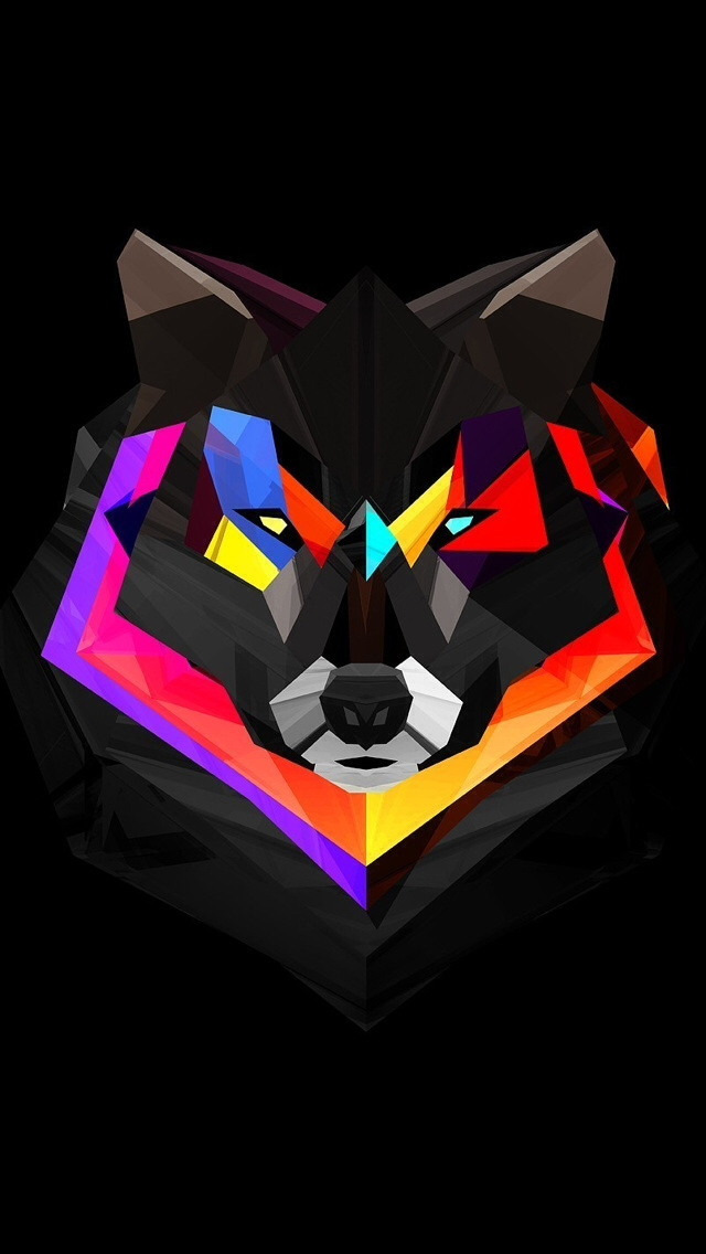 Awesome by Tucker Musser Polygon art, Wolf wallpaper