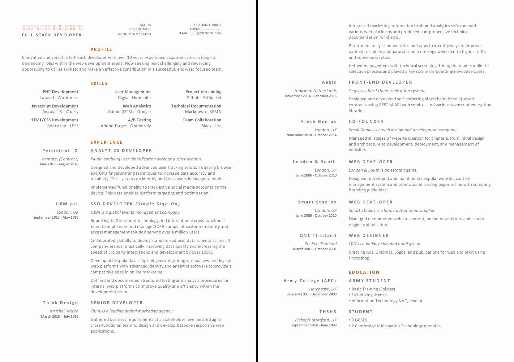 Pin on Top modern resume design 2020