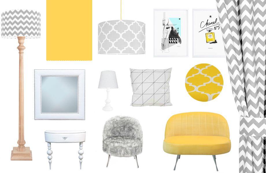 Sypialnia Szaro żółta Pomysły Do Domu Home Gallery Wall