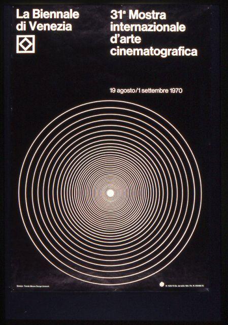 Manifesto Festival del Cinema di Venezia 1970