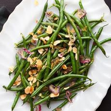 Haricots Verts with Toasted Almonds and Caramelized Shallots Recipe