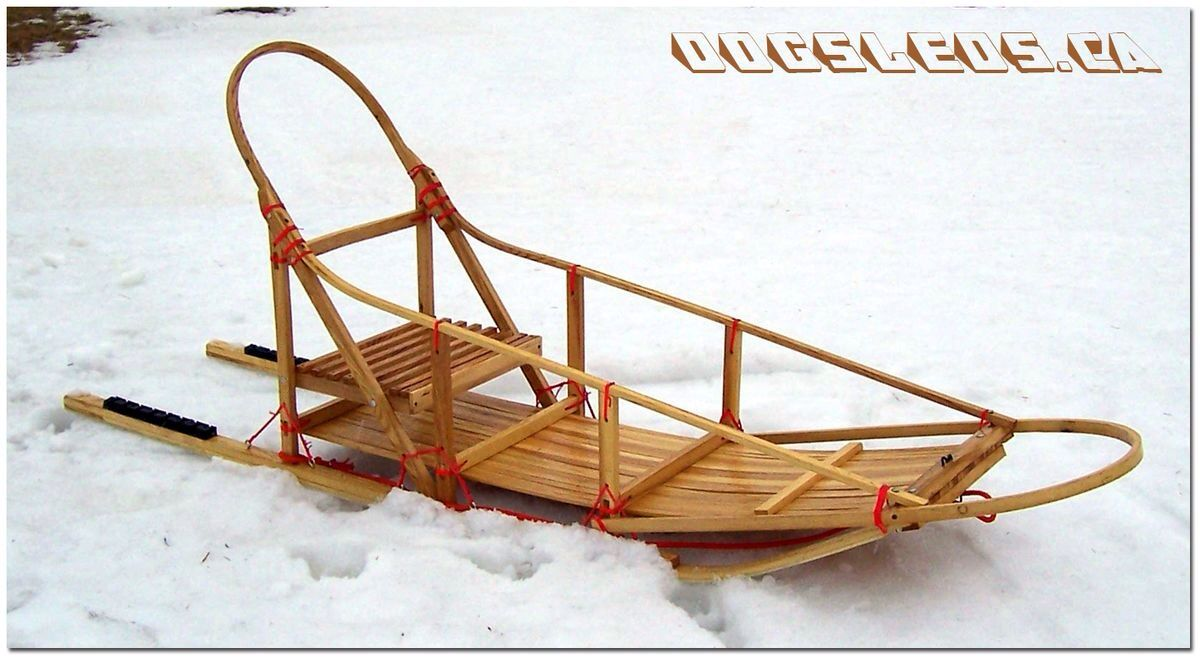 Built in Quebec. Built of ash. DogSled.ca Dog sledding