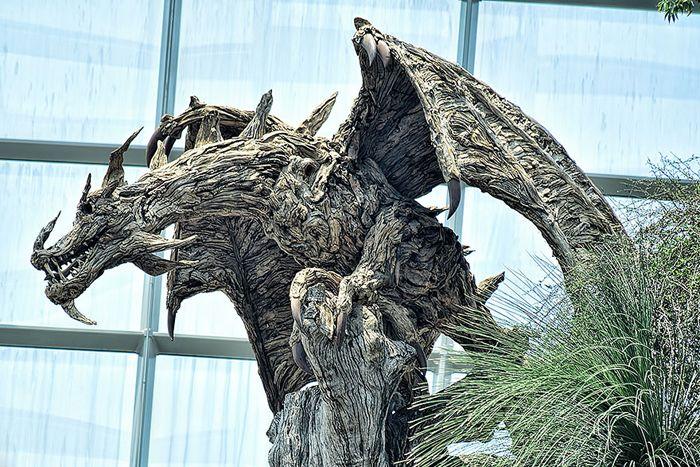 Крылатые драконы из обыкновенных коряг