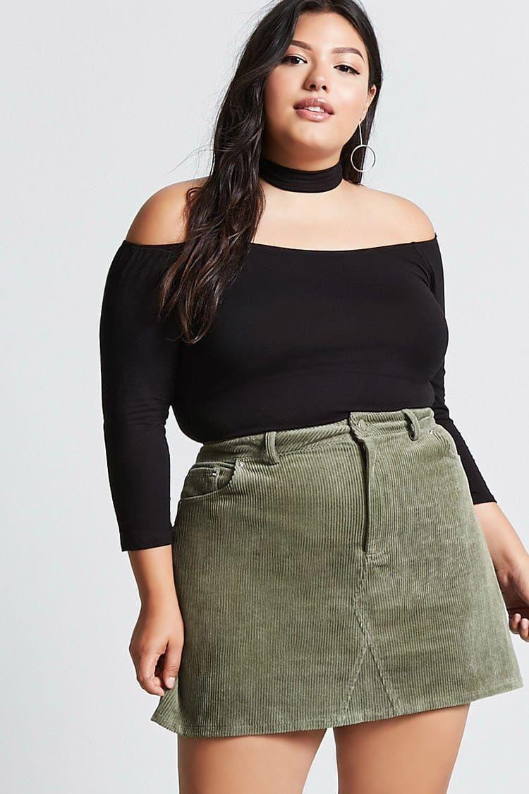 0c9258852c Product Name Plus Size Corduroy Mini Skirt