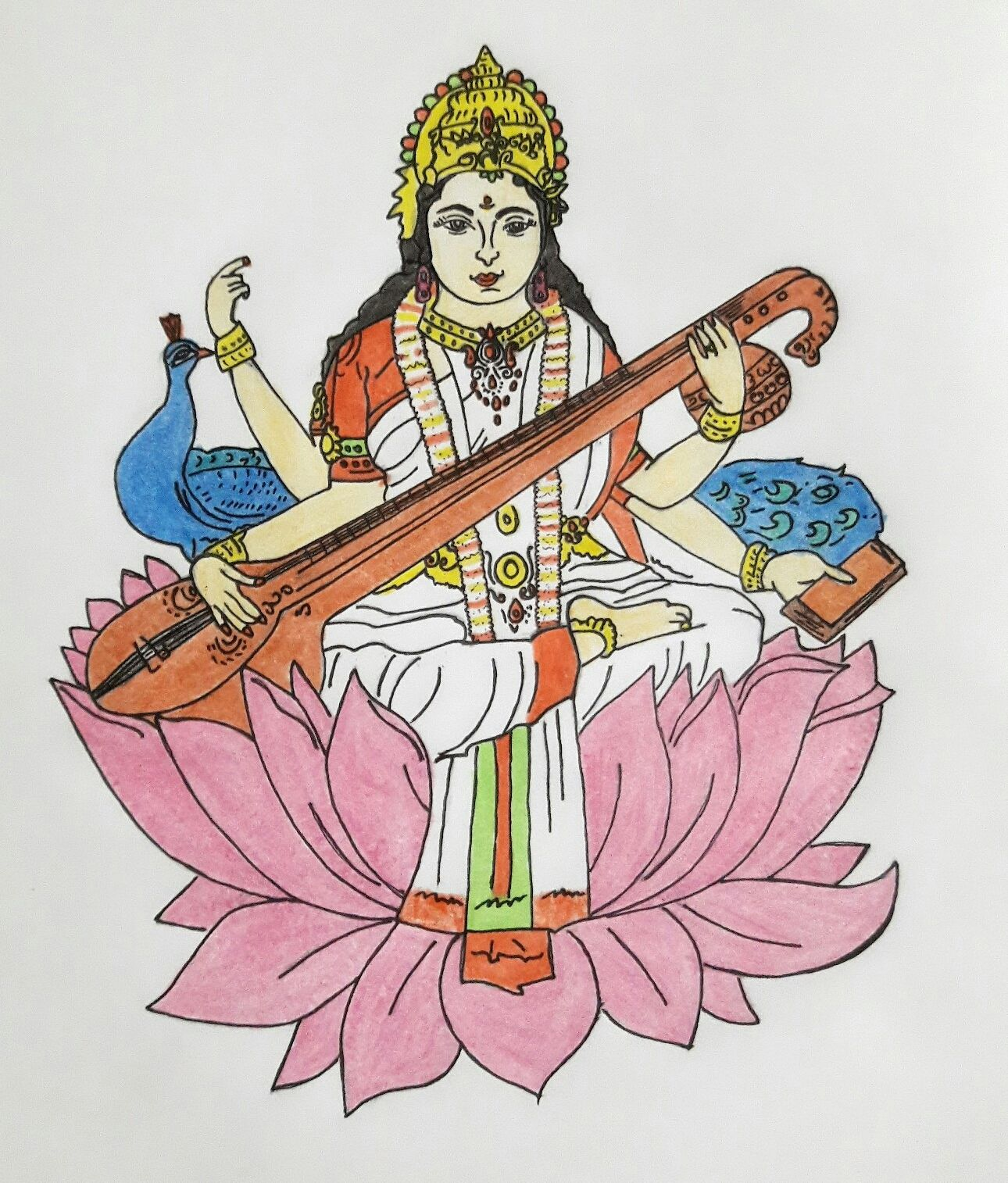 Saraswati by obssydian (มีรูปภาพ)   อะนิเมะ, อินเดีย