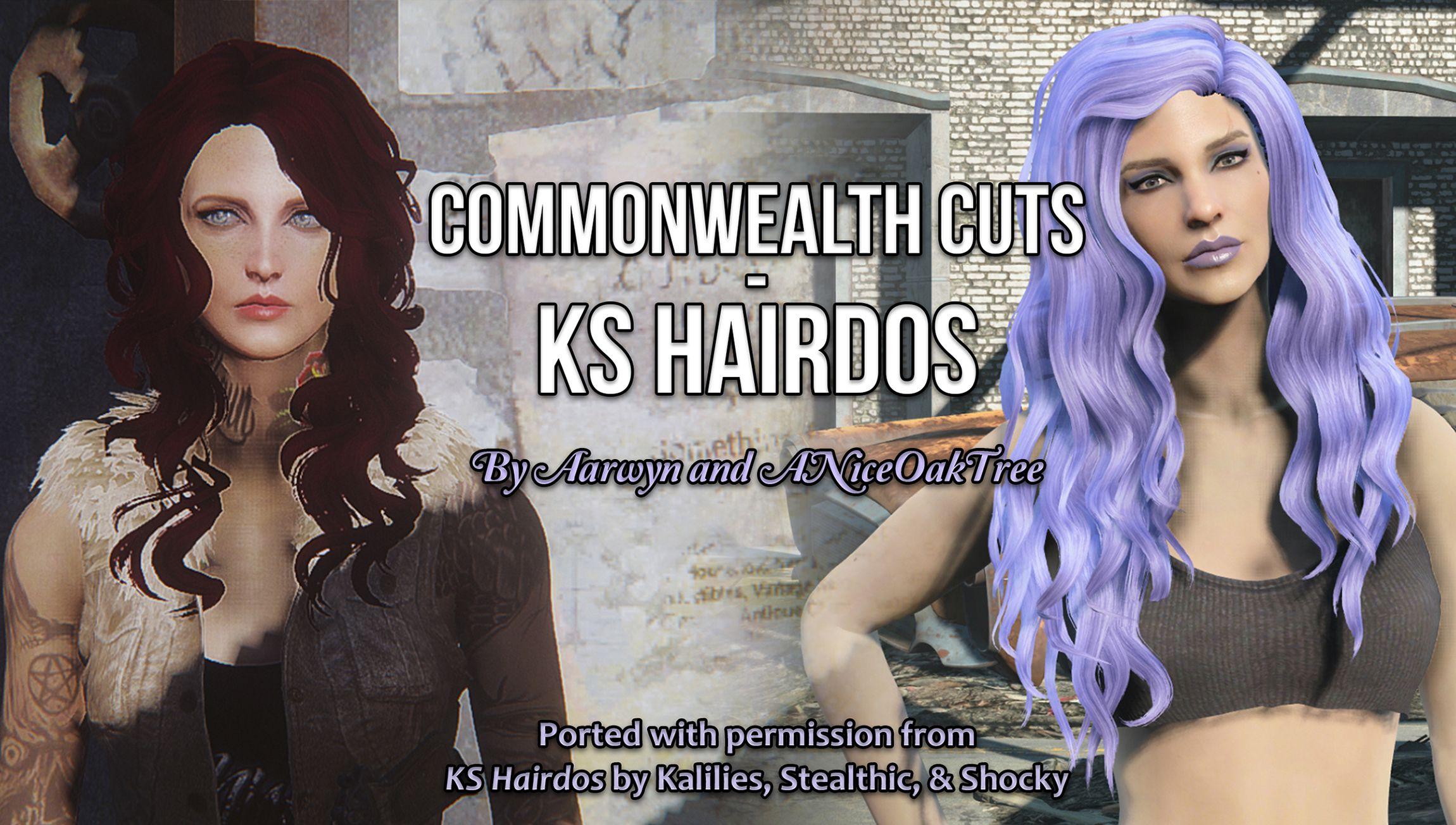Commonwealth Cuts - KS Hairdos | Fallout 4 | Fallout 4 mods, Fallout