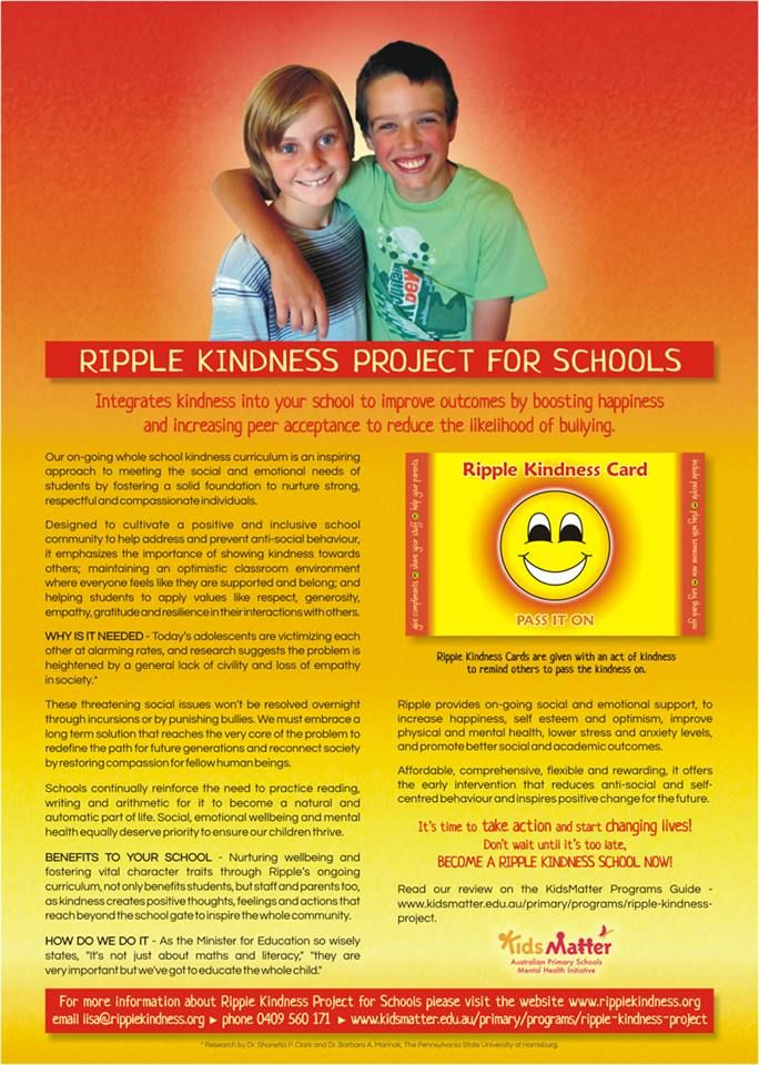 Kindness Curriculum Shown To Improve >> If You Believe That Kindness Can Change The Culture In