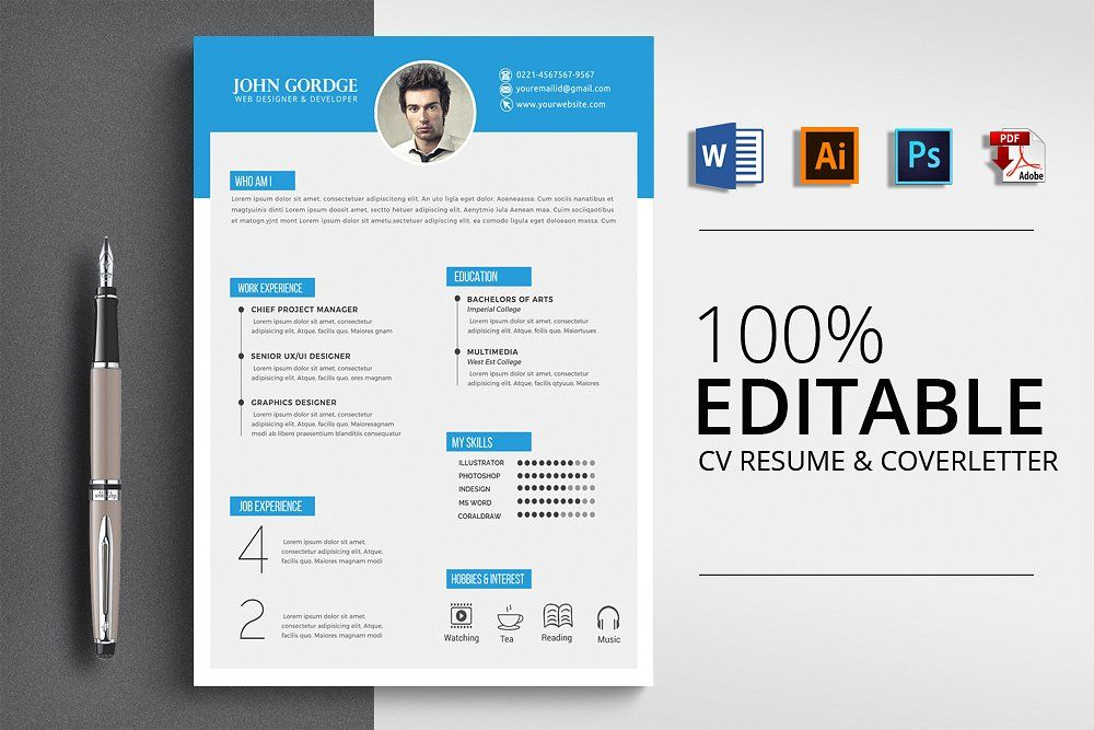 CV Resume Template by Business Flyers on creativemarket
